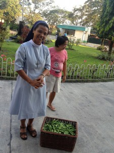 We Delivered Okra to Sisters at the College of Holy Spirits in Tarlac