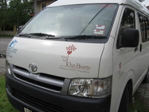 GCS Food Bank's van