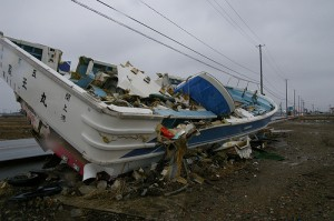 A Ship Ran Aground By the Road--A Year After the Tsunami