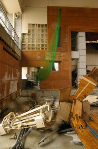 The inside of the Gymnasium of the School--A Year After the Tsunami