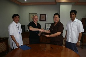 Signing first MOU with DSWD in 2008