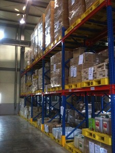 Inside of the Warehouse of the Central Distribution Center