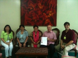 Signing MOU with DSWD
